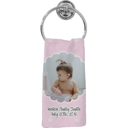 Baby Girl Photo Hand Towel - Full Print (Personalized)