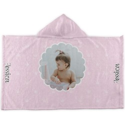 Baby Girl Photo Kids Hooded Towel (Personalized)