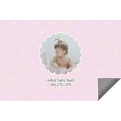 Baby Girl Photo Indoor / Outdoor Rug (Personalized)