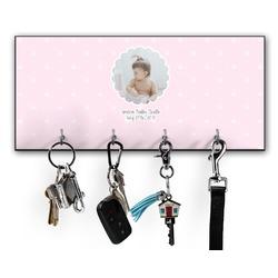 Baby Girl Photo Key Hanger w/ 4 Hooks