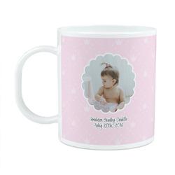 Baby Girl Photo Plastic Kids Mug (Personalized)