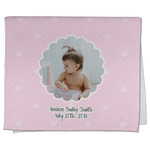 Baby Girl Photo Kitchen Towel - Full Print (Personalized)