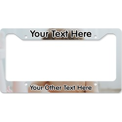 Baby Girl Photo License Plate Frame (Personalized)