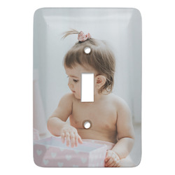 Baby Girl Photo Light Switch Covers - Multiple Toggle Options Available (Personalized)
