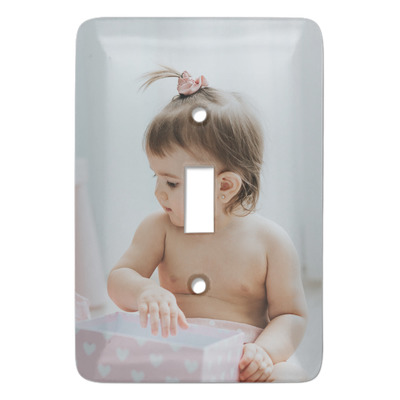 Baby Girl Photo Light Switch Covers (Personalized)