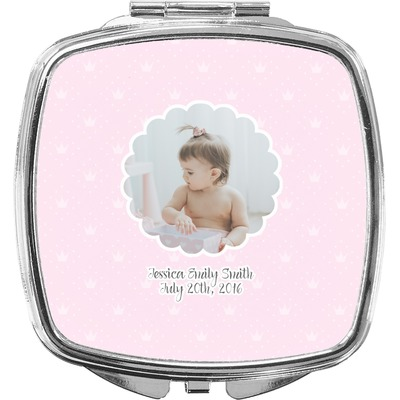 Baby Girl Photo Compact Makeup Mirror (Personalized)