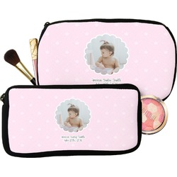 Baby Girl Photo Makeup / Cosmetic Bag (Personalized)