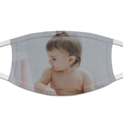 Baby Girl Photo Cloth Face Mask (T-Shirt Fabric) (Personalized)