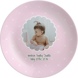 Baby Girl Photo Melamine Plate (Personalized)