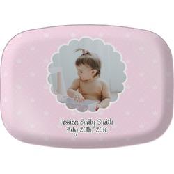 Baby Girl Photo Melamine Platter (Personalized)
