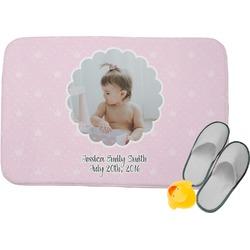"Baby Girl Photo Memory Foam Bath Mat - 24""x17"" (Personalized)"