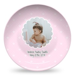 Baby Girl Photo Microwave Safe Plastic Plate - Composite Polymer (Personalized)