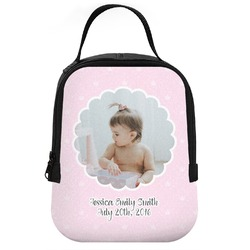 Baby Girl Photo Neoprene Lunch Tote (Personalized)