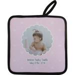 Baby Girl Photo Pot Holder
