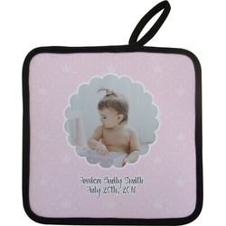 Baby Girl Photo Pot Holder (Personalized)
