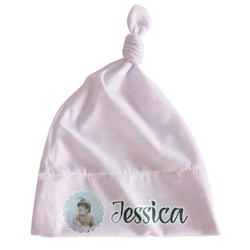 Baby Girl Photo Newborn Hat - Knotted (Personalized)
