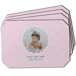 Baby Girl Photo Dining Table Mat - Octagon