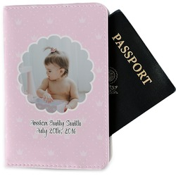 Baby Girl Photo Passport Holder - Fabric (Personalized)