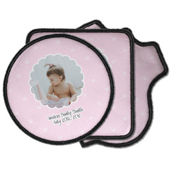 Baby Girl Photo Iron on Patches