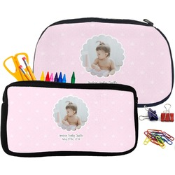 Baby Girl Photo Pencil / School Supplies Bag (Personalized)