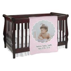Baby Girl Photo Baby Blanket (Personalized)