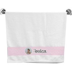 Baby Girl Photo Bath Towel (Personalized)