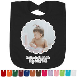Baby Girl Photo Baby Bib - 14 Bib Colors (Personalized)