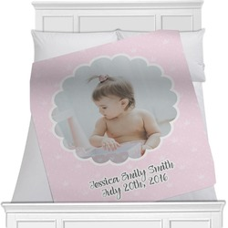 Baby Girl Photo Minky Blanket (Personalized)