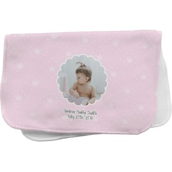 Baby Girl Photo Burp Cloth (Personalized)