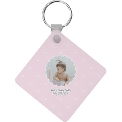 Baby Girl Photo Diamond Key Chain (Personalized)