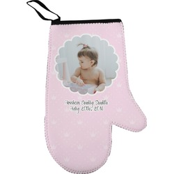 Baby Girl Photo Oven Mitt (Personalized)