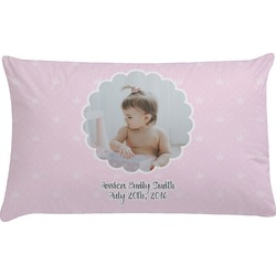 Baby Girl Photo Pillow Case (Personalized)