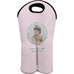 Baby Girl Photo Wine Tote Bag (2 Bottles) (Personalized)