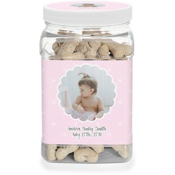 Baby Girl Photo Pet Treat Jar (Personalized)