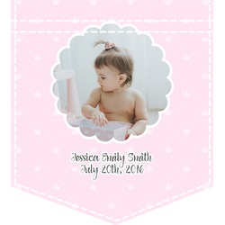 Baby Girl Photo Iron On Faux Pocket (Personalized)