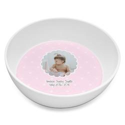 Baby Girl Photo Melamine Bowl 8oz (Personalized)