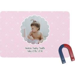 Baby Girl Photo Rectangular Fridge Magnet (Personalized)