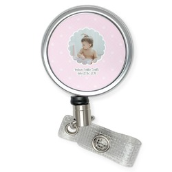 Baby Girl Photo Retractable Badge Reel (Personalized)