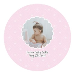 Baby Girl Photo Round Decal - Custom Size (Personalized)