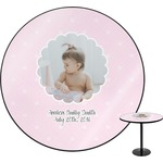 Baby Girl Photo Round Table (Personalized)