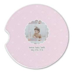 Baby Girl Photo Sandstone Car Coasters (Personalized)
