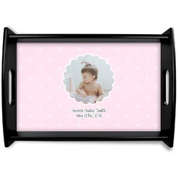 Baby Girl Photo Wooden Trays (Personalized)