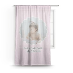 Baby Girl Photo Sheer Curtains (Personalized)