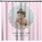 Baby Girl Photo Shower Curtain (Personalized)