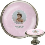 Baby Girl Photo Cabinet Knobs (Personalized)