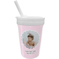 Baby Girl Photo Sippy Cup with Straw (Personalized)