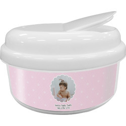 Baby Girl Photo Snack Container (Personalized)
