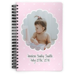 Baby Girl Photo Spiral Bound Notebook (Personalized)