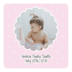 Baby Girl Photo Square Decal (Personalized)