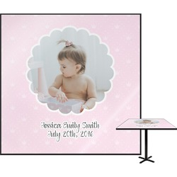 Baby Girl Photo Square Table Top (Personalized)